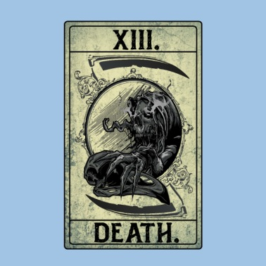 Karta Tarota Xiii Smierc Skeleton Scythe Bird Skull Etui Na Iphone A