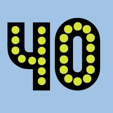 Imagenes De Cumpleanos Numero 40.Numero 40 Cuarenta 40º Cumpleanos Diseno Camiseta Premium Hombre Negro