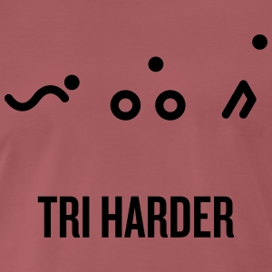 TRI_harder - Premium T-skjorte for menn