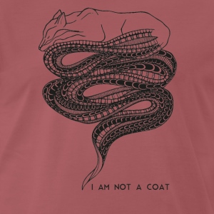 I am not a coat - Vosje / Fox - Mannen Premium T-shirt