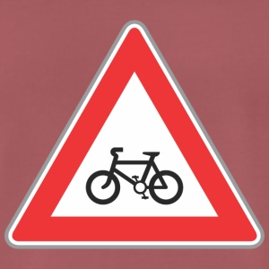 Road sign vélo rouge - T-shirt Premium Homme