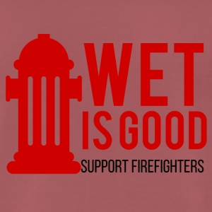 Fire Department: Wet is goed. Ondersteuning Brandweerlieden. - Mannen Premium T-shirt