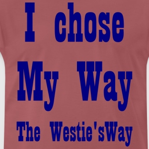 I chose My Way Navy - Men's Premium T-Shirt