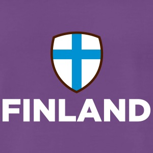 Finlands nationalflagga - Premium-T-shirt herr