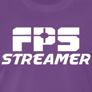 FPS Streamer No Icons - Premium-T-shirt herr
