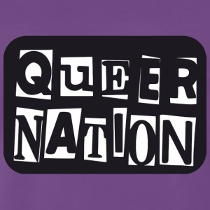 Queer Nation - Herre premium T-shirt
