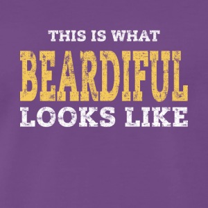 Beardiful v1 - Mannen Premium T-shirt