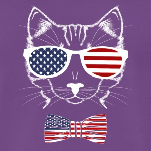 4 juillet USA Meowica Funny Cat - T-shirt Premium Homme
