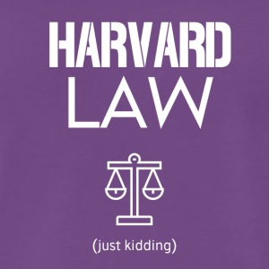 Harvard Law - Premium T-skjorte for menn
