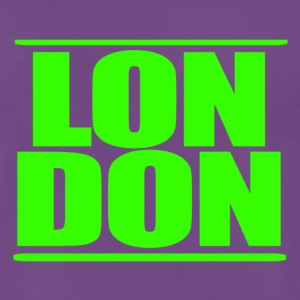 LON DON Logo Green - Premium T-skjorte for menn