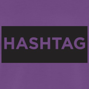 Hashtag BackPack - Premium-T-shirt herr