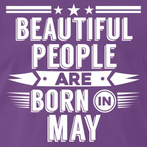 Beatiful people born in may - T-Shirt - Men's Premium T-Shirt