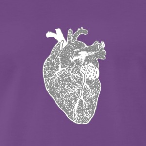 Heart, x-ray, Zentangle - Men's Premium T-Shirt