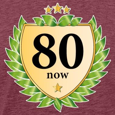 80 Compleanno Cresta Corona Dalloro Stelle Dorate Borsa Di Stoffa