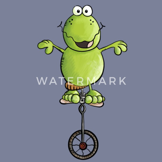 Frosch fährt Einrad Fahrrad Comic Geschenk Männer