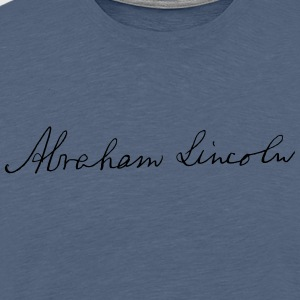 Abraham Lincoln 1862 Signature - Men's Premium T-Shirt