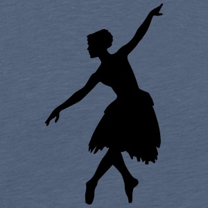 Vector Ballet dancer Silhouette - Men's Premium T-Shirt