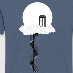 Tardis on clouds - Men's Premium T-Shirt