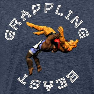 Grappling Beast (ape vs Jaguar) - Premium T-skjorte for menn