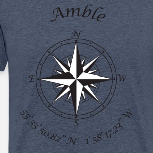 Amble, Northumberland   Compass (black)