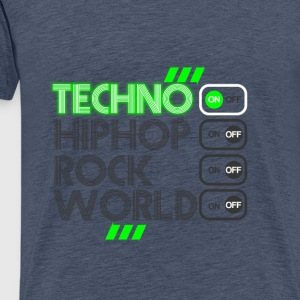 TECHNO MUSIC - Männer Premium T-Shirt