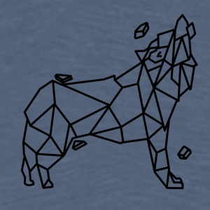 Wolf stylized geometric version - Men's Premium T-Shirt