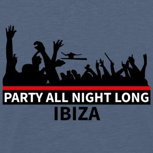 IBIZA - Party All Night Long - Mannen Premium T-shirt
