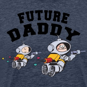 Future Daddy (Personalize with Month Year} - Men's Premium T-Shirt