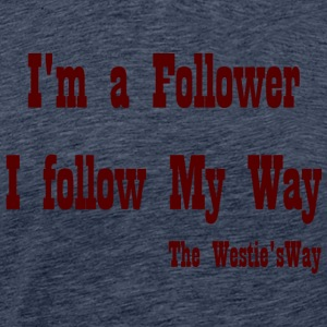 I follow My Way Brown - Men's Premium T-Shirt