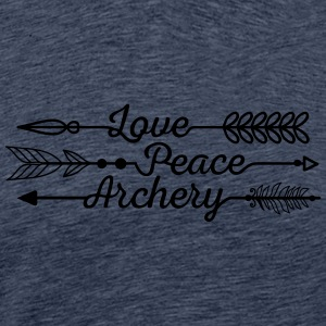 Love, Peace and Archery (Ladies) - Men's Premium T-Shirt