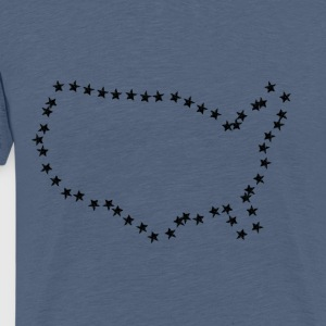 52 Stars (Black) - Premium T-skjorte for menn