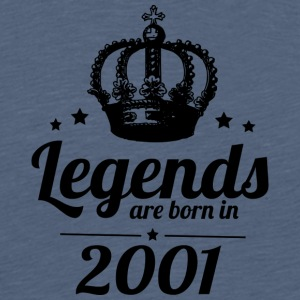 Legends 2001 - Mannen Premium T-shirt