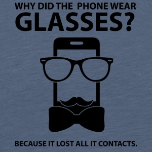 Opticians: Why Did The Phone Wear Glasses? Because - Men's Premium T-Shirt