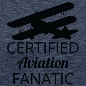 Pilot: Certified Aviation Fanatic. - Maglietta Premium da uomo
