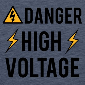 Electrician: Danger! High Voltage! - Men's Premium T-Shirt