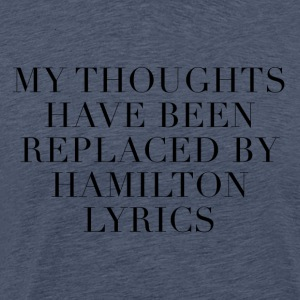 Hamilton The Musical Lyrics - Premium T-skjorte for menn