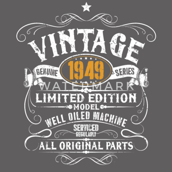 7b668a2f4 70th Birthday - 1949 Vintage Funny Gift Premium T-skjorte for menn ...