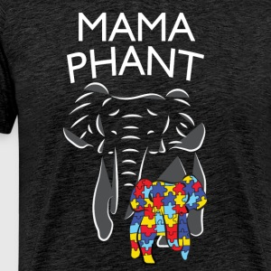 Autism Awareness Mamaphant Mommy Elephant T-Shirt - Men's Premium T-Shirt
