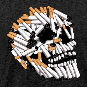 skull and cigarette, skull - Men's Premium T-Shirt
