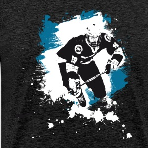 hockey puck hockey player attack polar bears sharks - Men's Premium T-Shirt