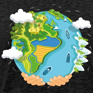 water planet - Mannen Premium T-shirt