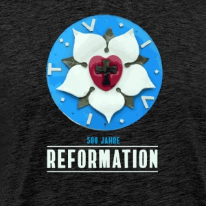 Luther rose Reformation 500 church day theses bete - Men's Premium T-Shirt