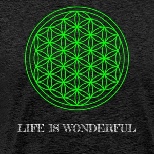 Flower of Life. Livet er herlig. - Premium T-skjorte for menn