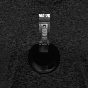 Cylindrical Air Raid Shelter Collage - Herre premium T-shirt