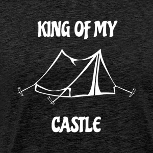 King of my Castle tent camping - Men's Premium T-Shirt