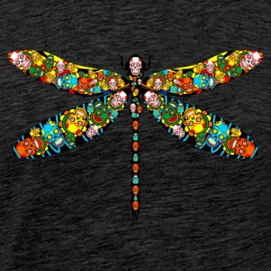DRAGONFLY SKULL - Men's Premium T-Shirt