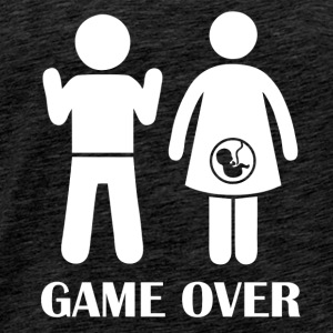 GAME OVER gravid - Premium T-skjorte for menn