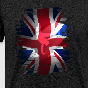 Union Jack flag skater Uk London lol kurre - Herre premium T-shirt