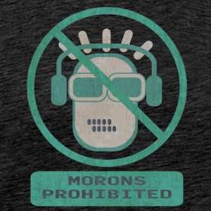 Blue moron prohibited - Men's Premium T-Shirt