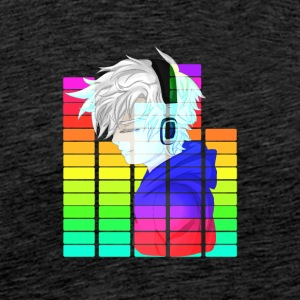 Electronic Music - Anime Guy - Premium T-skjorte for menn